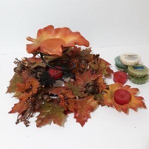 Party lite Harvest leaves bundle & yankee tarts